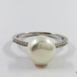 Žiedas su Perlais ir Cirkoniais S1769