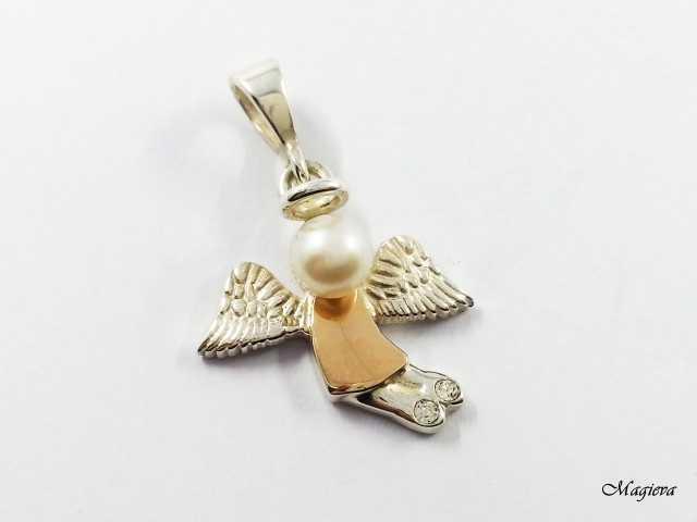 Pakabukas su aukso detalėmis ir Cirkoniais SA025