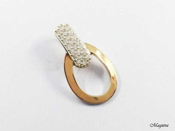 Pakabukas su aukso detalėmis ir Cirkoniais SA009