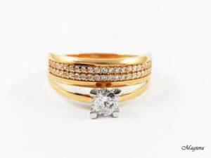 Žiedas su Cirkoniais AU179