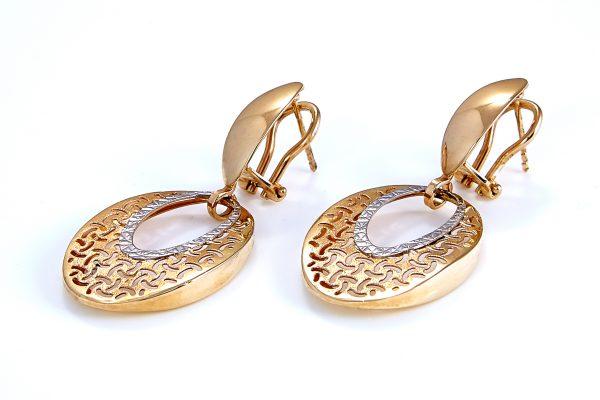 Auksiniai auskarai A0034